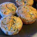 Ziegenkäse-Rucola Muffins