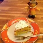 Kürbis-Pfirsich Kuchen