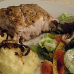 Red Snapper Filet mit buntem Fenchelsalat und Kartoffelpüree