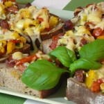Pizza-Brot mit Salami – Variante 2