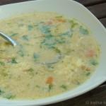 Suppe mit Ei