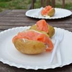 Ofenkartoffel mit Lachs für Unterwegs