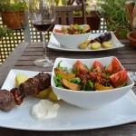 Pflaume-Rind Grillspieße und der passende Salat