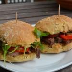 Schnelle Steak-Burger-Brötchen