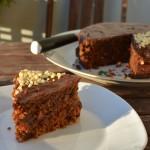 Schoko-Mandel-Torte mit Birne-Orange Füllung