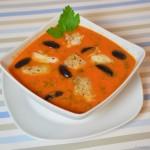 Tomatensuppe mit Viktoriaseebarsch Filet
