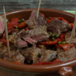 Tapas - Steak und gegrillte Paprika