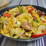 Weiße Bohnen-Wirsing Pfanne mit Chorizo