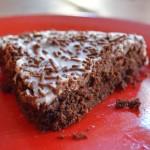 Tarte au chocolat mit Schmand Glasur