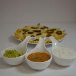 Mango Salsa und Käse-Nachos