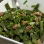 Grüne Bohnen Salat mit Speck