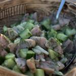 Knackig frischer Matjessalat