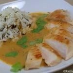 Hähnchen in scharfer Kokos-Curry Sauce