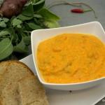 Karottensuppe mit Mascarpone und Pulled Pork