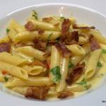 Penne mit Chili Carbonara