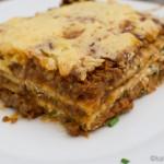 Dinkel Lasagne mit Hackfleisch und Tomatensauce