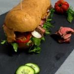 Knackiges Steaksandwich