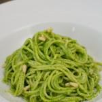 Spaghetti mit Bärlauch Pesto
