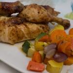 Brathähnchen mit herbstlichem Gemüse