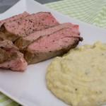 Kalbsnacken mit Gorgonzola Kartoffelpüree