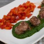 Lammfilet auf Koriander-Pesto