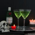 Halloween Cocktail - grüner Gin Tonic