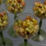 Salat vom gebeizten Lachs mit Apfel und Gurke