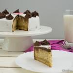 Fondanttorte mit Schokolade und Honig