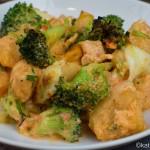 Gnocchi Auflauf mit Lachs und Brokkoli