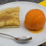 Papaya Sorbet und Kreolische Crêpes