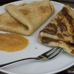 Pfannkuchen mit Mascarpone