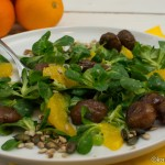 Salat mit Maronen und Orangen