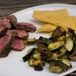 Farinata di cecci mit Steak und Gemüse