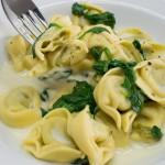 Spinat Ricotta Tortellini mit Frischkäsesauce