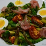 Spargel Salat mit Schinken und Ei