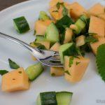 Gurke Melone Salat mit Zitronenmelisse