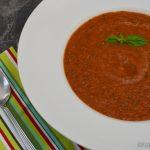 Gebackene Tomatensuppe mit Zucchini
