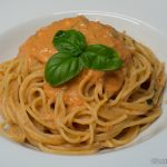 Spaghetti mit Tomaten-Mascarpone Sauce