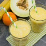 Orange-Banane Smoothie mit Melone
