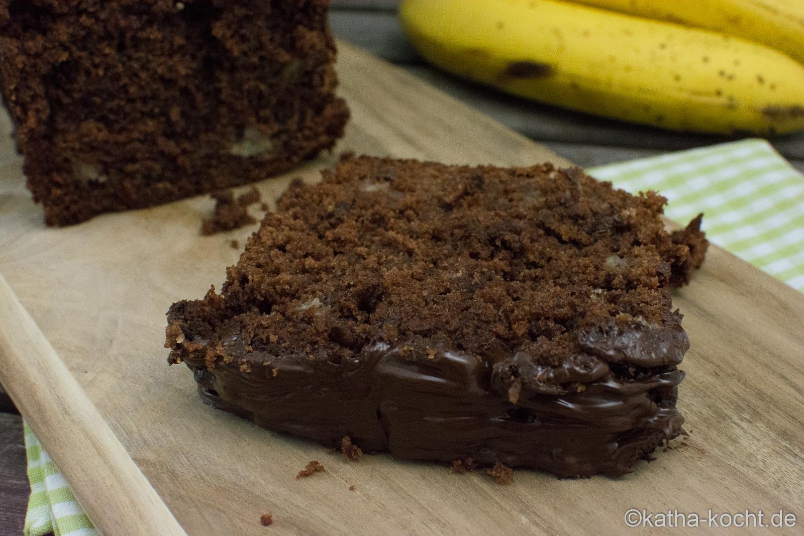Schneller Schoko-Bananenkuchen aus der Kastenform - Katha-kocht!