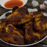 Honig Chicken Wings mit Buffalo Sauce
