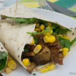 Pullde Pork Wraps mit Mais und Rucola