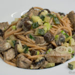 Pasta mit Schweinefilet und Zucchini
