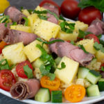 Roastbeef-Bulgursalat mit Ananas