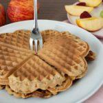 Frühstückswaffeln mit Apfelmus und ohne Ei