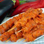 Kalbsfiletspieße mit Ajvar-Marinade