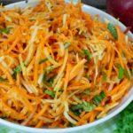 Karotten-Kohlrabisalat mit Apfel – Rohkostsalat