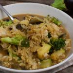 Schnelles Fischcurry mit Zucchini und Aubergine