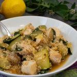 Hähnchen-Zucchinipfanne mit Quinoa
