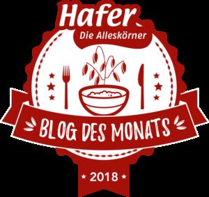 Blog des Monats 2018 Haferdiealleskoerner